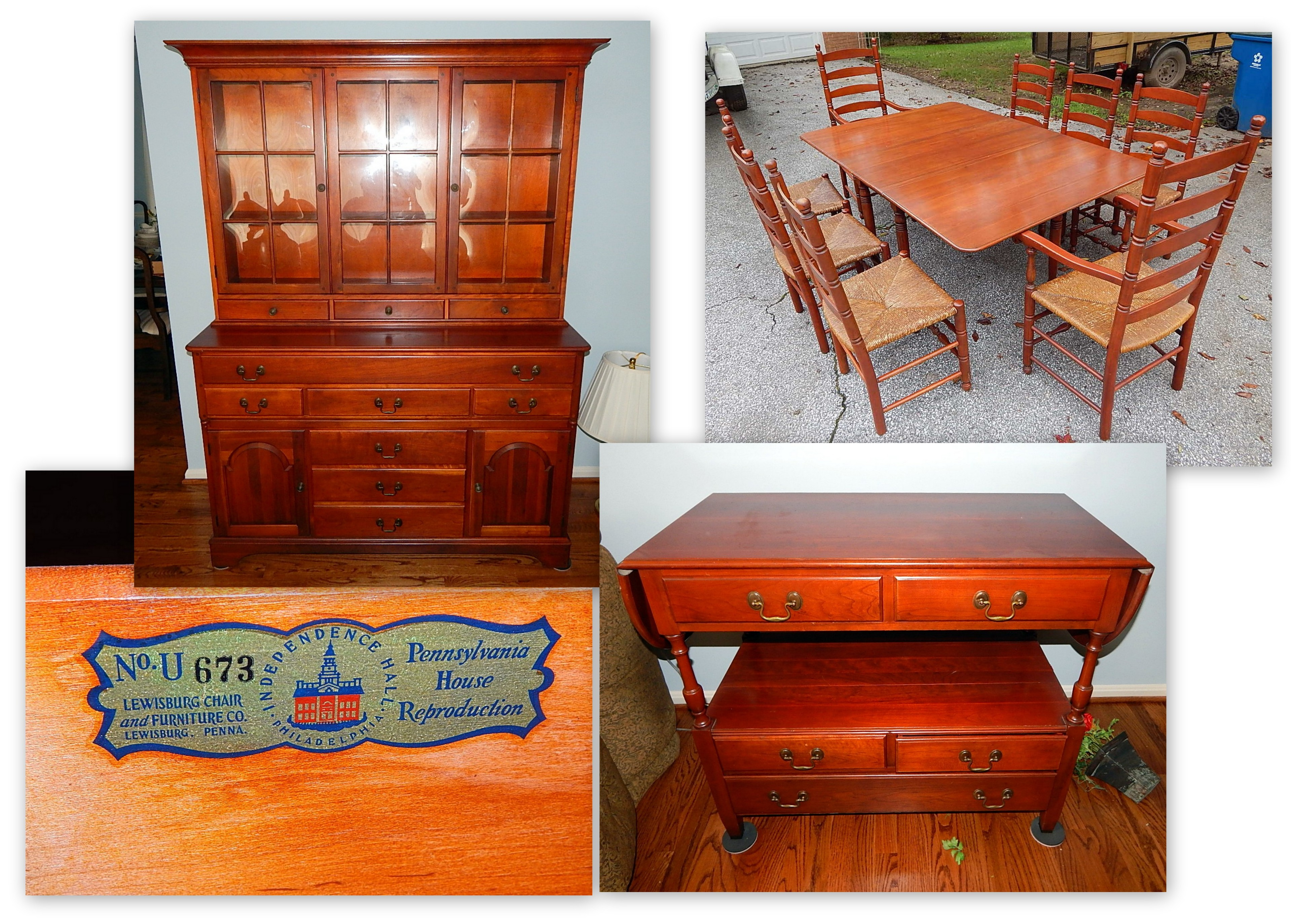 Pennsylvania House Cherry Chippendale Dining Room Set