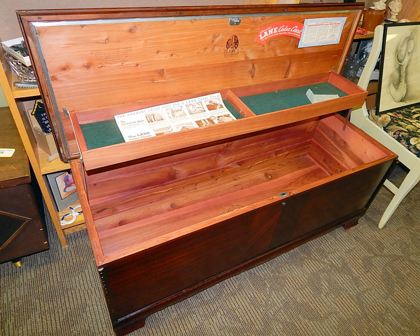 Vintage Lane Cedar Chest Storage Coffee Table