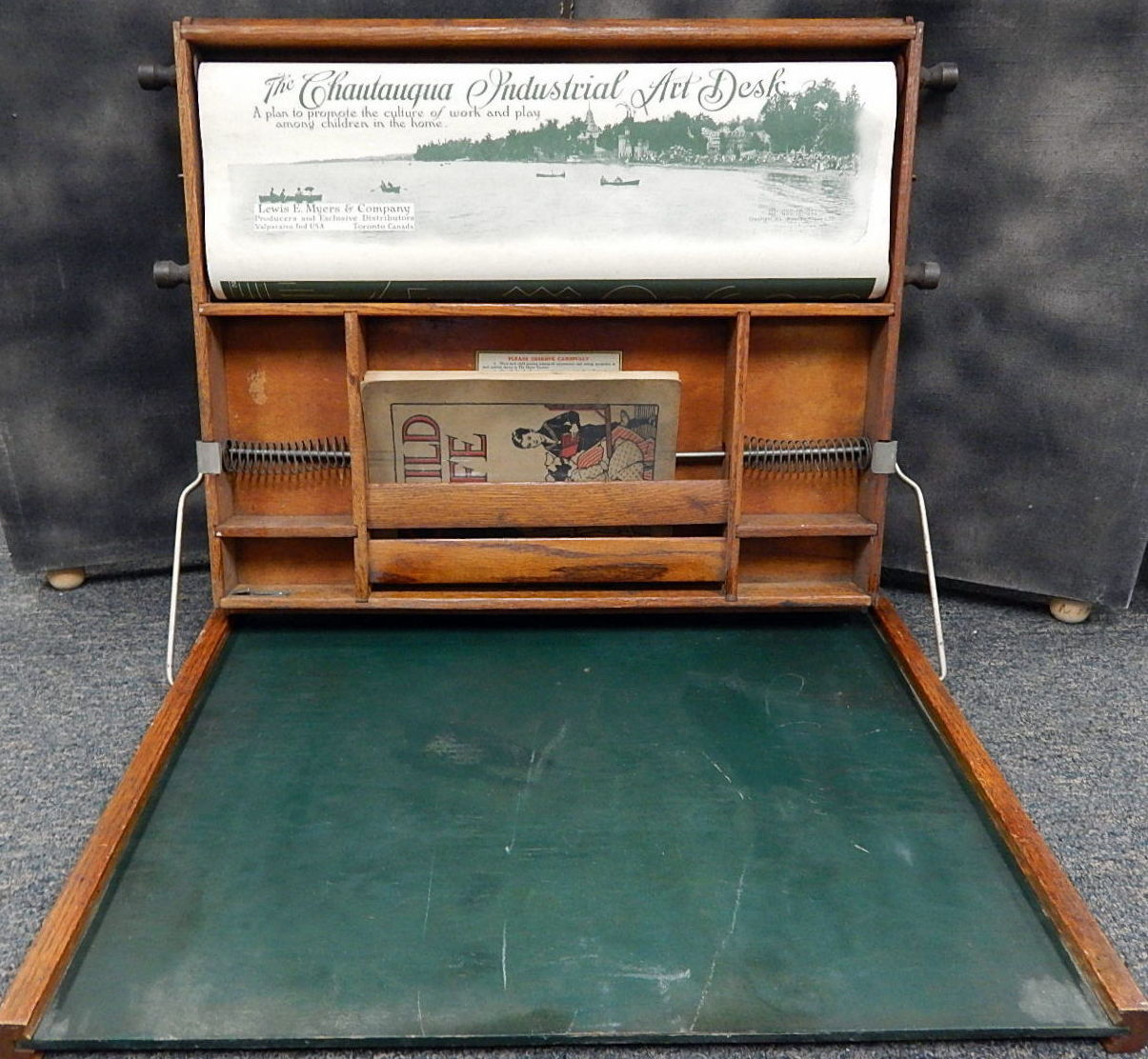 Antique 1923 Bluebird Childs Lewis Meyers Student Art Desk - Blogs Curiosity Consignment