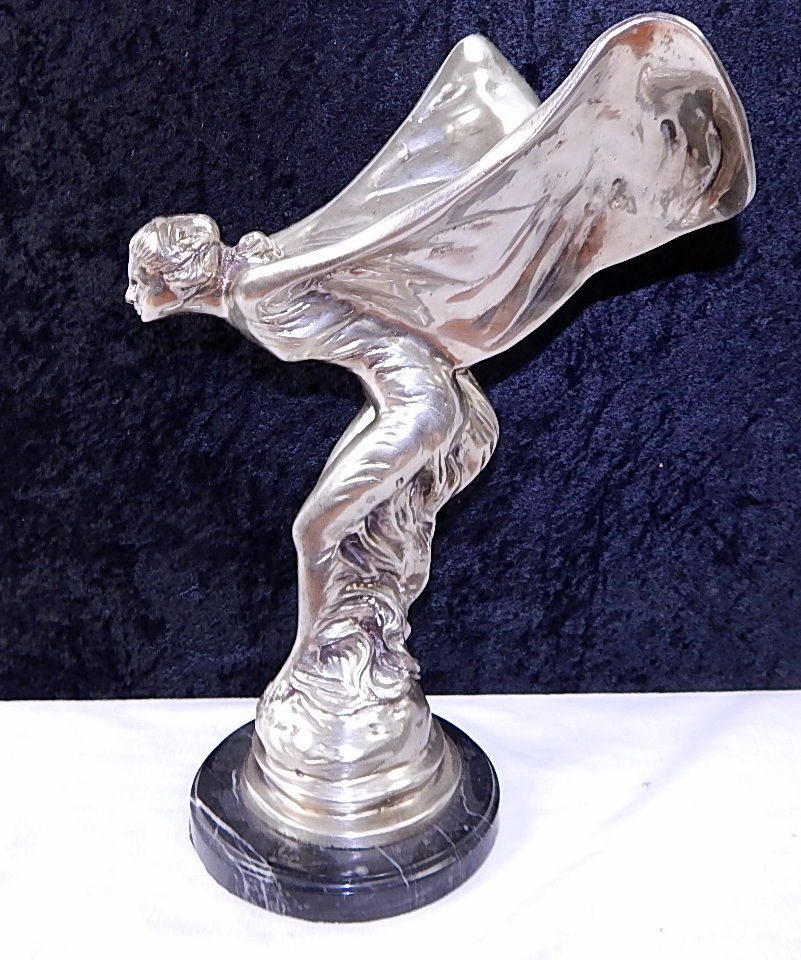 bronze the spirit of ecstasy rolls royce emblem sculpture curiosity consignment. Black Bedroom Furniture Sets. Home Design Ideas