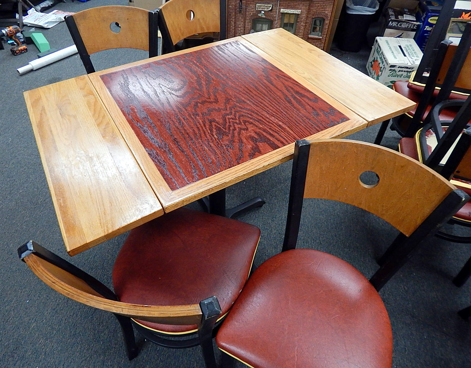 Small Commercial Restaurant Style Contemporary Modern Dinette Table - Commercial table and chair sets