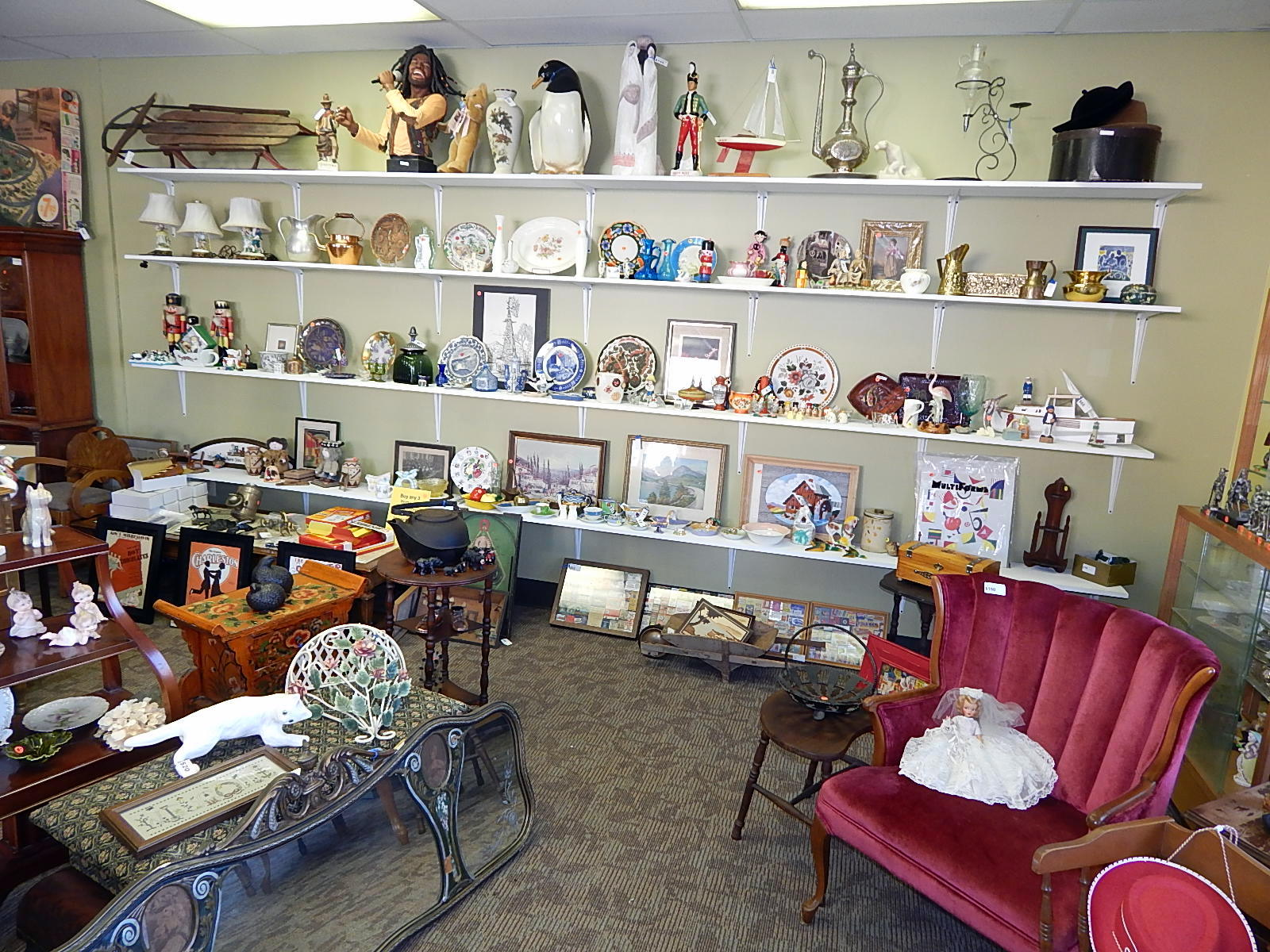 Inside Curiosity Consignment Shop