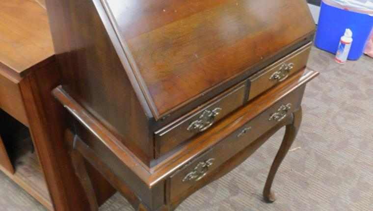 Small Queen Anne chippendale cherry drop front secretary desk