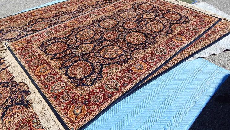CLEAN Traditional Karastan Kazvin 6x9 oriental rug red blue