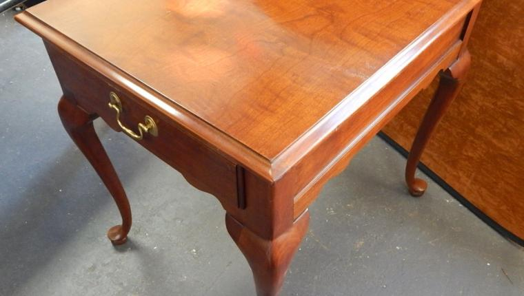Council cherry Queen Anne end side table