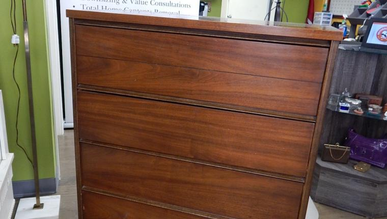 Bassett Furniture Mid Century Walnut Chest Dresser MCM