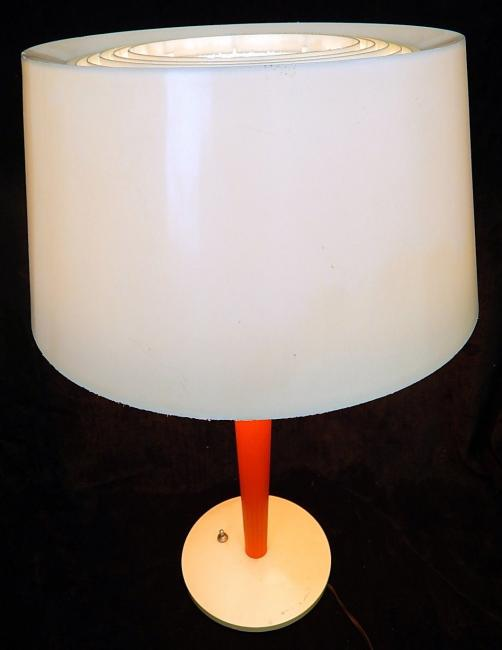 Mid Century Modern Atomic Age Retro Lightolier Portable Table Desk Lamp
