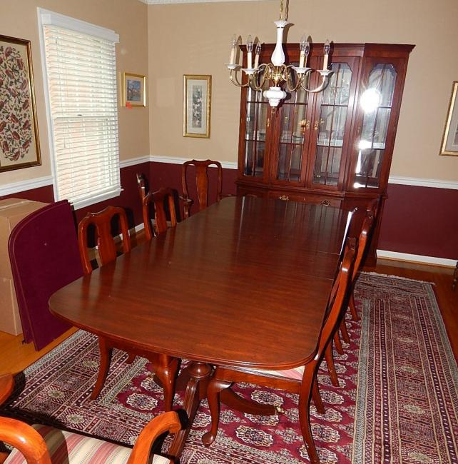 Henkel Harris Dining Room Furniture: Henkel Harris Chippendale Cherry Dining Room Set