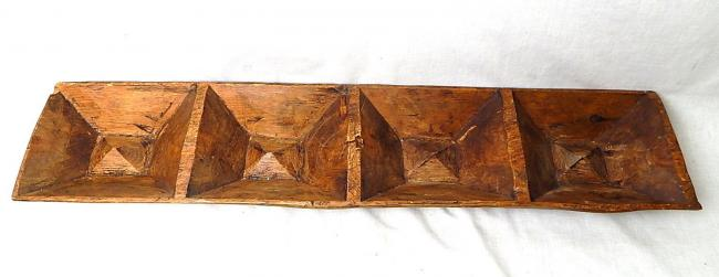 19th Century Primitive Rough Hand Hewn Chestnut Corn Feed Trough