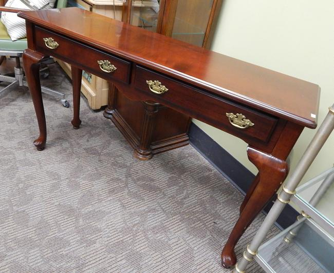 Bombay Co cherry Queen Anne sofa hall table