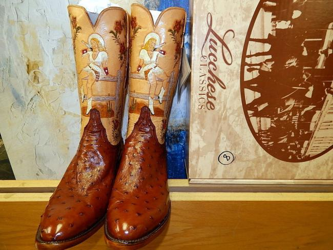 bd40395917c Mens Lucchese Exotic Custom Made Ostrich Western Cowboy Boots - Sold ...