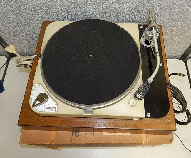 Vintage Thorens TD 124 Transcription Turntable Record Player