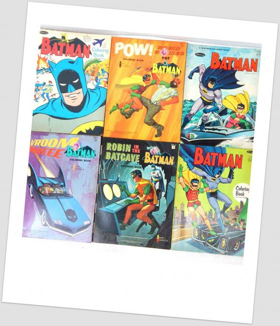 Vintage Original 1966 Batman Unused Whitman Coloring Book Lot ...