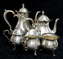 Antique Fisher Jack Shepard Sterling Silver Tea Set 58 oz