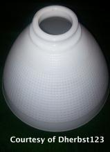 Stiffel Milk Glass Floor Lamp Shade