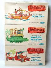 Vintage 1961 Remco The Flintstones Motorized Hobby Model Kit Set Lot