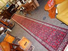 24 foot Iranian Wool Long Hall Oriental Runner Rug