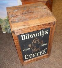 Antique General Store Dilworth Wood Coffee Bean Bin