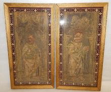 16th Century French Renaissance Beauvais Textile Tapestry Relic Panels