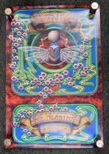 Original 1977 Wings Scarab Paul Mccartney in Concert Poster