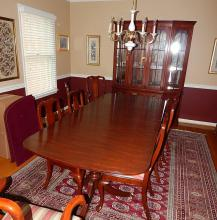 Henkel Harris Chippendale Cherry Dining Room Set