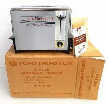 Mid Century NEW in box Vintage Toastmaster B150 Automatic Pop Up Toaster Chrome