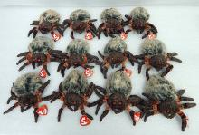 "12 New With Tag ""Hairy"" Spider Beanie Babies TY"