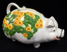 Vintage 1976 Universal Statuary Large Still Piggy Coin Bank