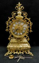 Antique French Ormolu Japy Freres Garniture Mantle Clock