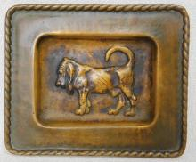 Antique bronze bloodhound dog Kennel Club ashtray Monmouth County New Jersey