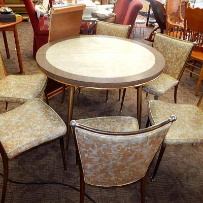 Mid Century Retro Howell Dinette Table w 6 Chairs Set