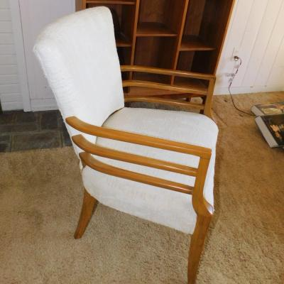 Mid Century Modern MCM maple accent arm chair