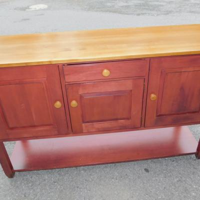 Ethan Allen Shaker Mission Rustic Cherry Sideboard Server
