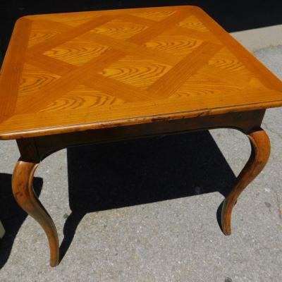 Baker square oak queens Anne game or dining table