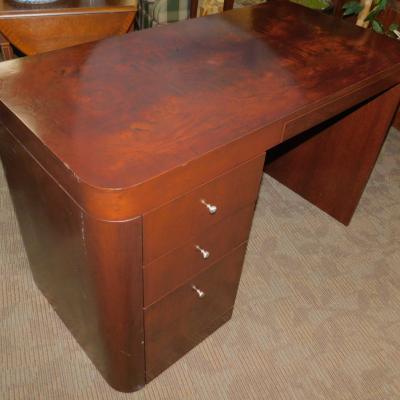 Contemporary flame cherry wood small desk