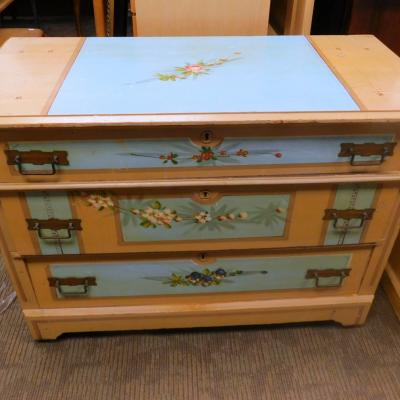 Antique country farm hand painted dresser chest of drawers