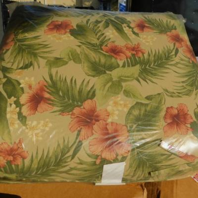 Tropical pattern cushions