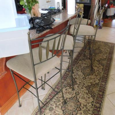 4 iron hob nob 30 inch counter height bar stools