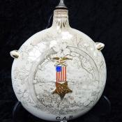 Grand Army of the Republic GAR Civil War Veterans Ceramic Canteen