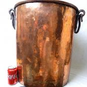 29 Gallon Huge Antique Primitive Hammered Copper Stock Pot