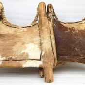 Antique Native American Indian Hide Thatch Rush Horse Saddle