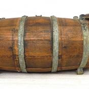 Original Antique Wood Civil War Naval Ambulance Water Whiskey Casket Keg Barrel