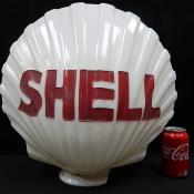 Shell Gasoline Gas Pump Topper Milk Glass Globe Original Antique
