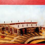HO Scale Train South River Model Works Hydrocal Stone Roundhouse Kit 160
