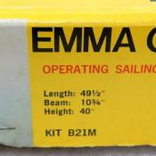 Sterling Emma C. Berry Sailing Schooner Model Ship RC Kit