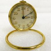 Vintage brass Tiffany & Co Small Travel Swiss Alarm Clock