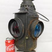 Antique Dressel Railroad Railway Signal 4-way Oil Lamp Lantern Arlington NJ