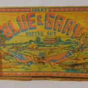 1961 Marx Giant Blue & Gray Civil War Playset Toy Soldier Battle Set